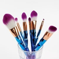 Faylisvow 7pcs Diamond Professional Mermaid Makeup Brushes Colorful Makeup Brushes Kit Contouring Foundation Eyeliner Brush
