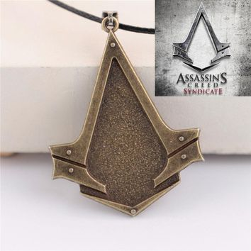 Anime PS4 Assassins Creed Syndicate Necklaces For Men Women Creed Chain Necklace for Best Friend Collier Homme Neckless Male PS3