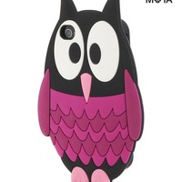 Aeropostale  Womens Owl iPhone 4/4S Case - Black