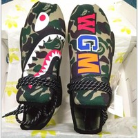 ADIDAS Bape Shark Camouflage Trending Fashion Camouflage Casual Sports Shoes G-AA-SDDS