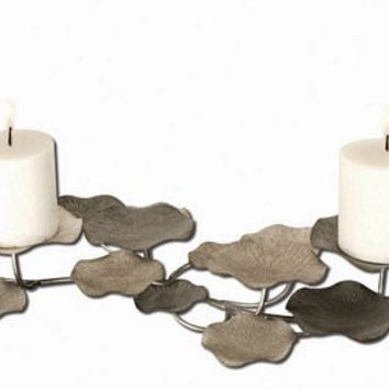 Uttermost Lying Lotus Metal Candleholders - 17079