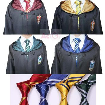 Harri Potter Robe Cape Cloak Gryffindor/SlytherinRavenclaw/Hufflepuff Robe Cosplay Costumes Kids Adult Children's Day Gift