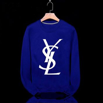YSL Fashion Casual Long Sleeve Sport Top Sweater Pullover Sweatshirt
