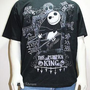 Licensed cool THE NIGHTMARE BEFORE CHRISTMAS JACK Pumpkin King DISNEY Store Mens Tee Shirt 2X
