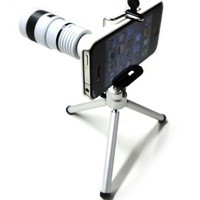 8x Optical Zoom Telescope Lens with Mini Tripod and Universal Holder for Apple iPhone 4 4S
