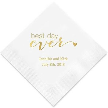 Best Day Ever Printed Paper Napkins (Sets of 80-100)