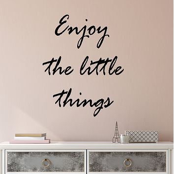 Vinyl Wall Decal Enjoy The Little Things Motivation Quote Words Stickers (3858ig)