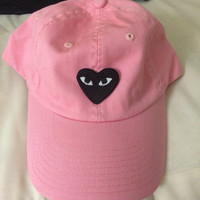 heart eyes vintage baseball cap