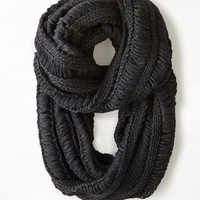 AEO Women's Airy Knit Loop Scarf (Charcoal)