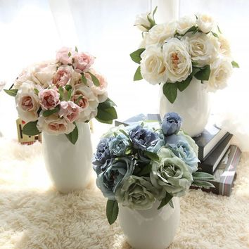 artificial flowers for wedding decoration mariage fake flowers artificial wedding bouquets flores artificiais para decora o
