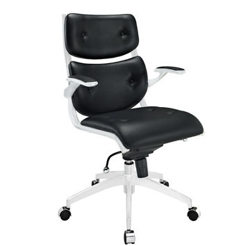Push Mid Back Office Chair in Black