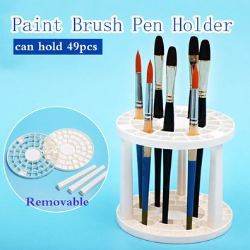 Bgln Paint Brush Pen Holder 49 Holes Pen Rack Display Stand Support Holder Painting Brush Pen Holder For Drawing Art Supplies