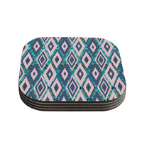 "Nika Martinez ""Tribal Ikat"" Coasters (Set of 4) - Outlet Item"