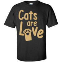 Cats are Love Gold Unisex T-Shirt