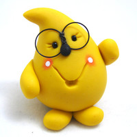 Nerd PARKER with Glasses - Polymer Clay Character Figurine