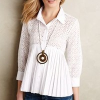 Eyelet Empire Blouse by HD in Paris White