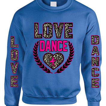 Love Dance Leopard womens Sweatshirts