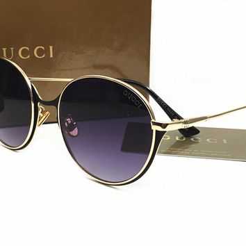 Gucci Womens Round Sunglasses