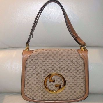 "RARE Vintage GUCCI ""BLONDIE GG"" Kelly Shoulder Bag Handbag ~ MADE IN ITALY"