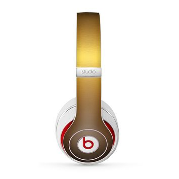 The Gold Shimmer Surface Skin for the Beats by Dre Studio (2013+ Version) Headphones