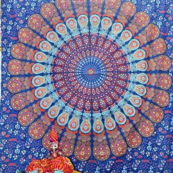 Twin Size Mandala Tapestries  medallion tapestry wall tapestries  dorm tapestries bohemian bedding Bed Spread Throw Bed Decor Sheet Ethnic