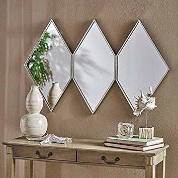 Christopher Knight Home 303532 Mariel Wall Mirror Clear/Stainless