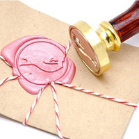 Mermaid Gold Plated Wax Seal Stamp x 1
