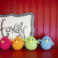 amigurumi birds Bird Gangset of 4 wedding favor by sabahnur