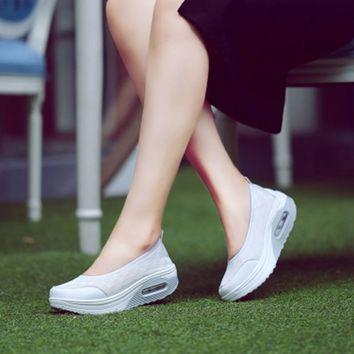 Women Casual shoes  platform solid new arrival summer creepers  woman