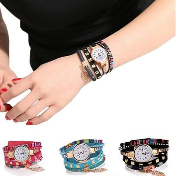 Teen Charm Fabric Bracelet Watch with Gift Box