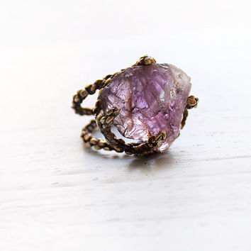 Amethyst large ring