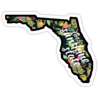 'Florida - The Sunshine State' Sticker by lthurman08