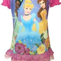 Disney Princess Cinderella, Belle, Tiana Shortie Pajama Set for girls