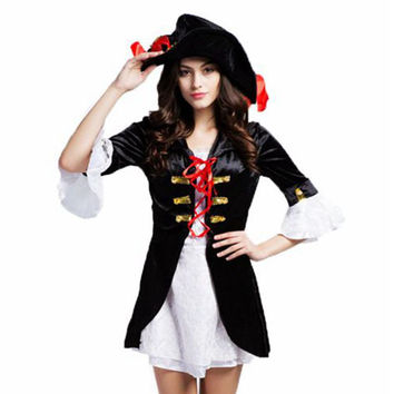 Pirate costume adult halloween plus size costume for women disfraces halloween mujer women costumes halloween halloween costumes
