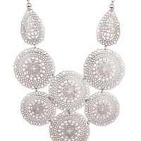 Alexia Medallion Bib Necklace