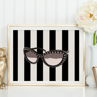 Prada SunglassesPoster Prada Marfa Print Prada Marfa Art Prada Marfa Decor Gossip Girl Art Fashion Art Fashion Print Bedroom Wall Prada Sign