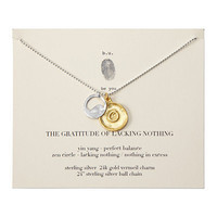 THE GRATITUDE OF LACKING NOTHING NECKLACE | Zen Jewelry | UncommonGoods