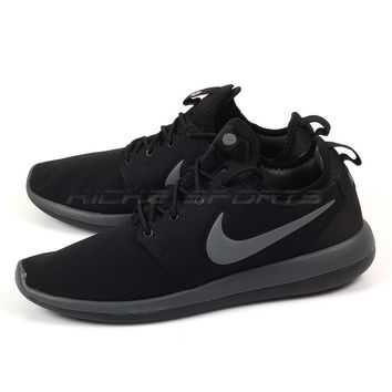 Nike Roshe Two Se Lifestyle Running Shoes Black dark Grey-anthra 36bb6f85a