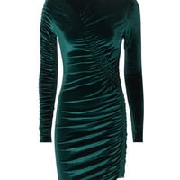 Yarden Teal Velvet Dress