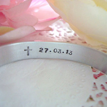 Hidden Message Pet Loss Save The Date Hand Stamped Cuff Bracelet Made To Order Can Be Personalized With Your Choice Of Words