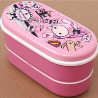 pink Sentimental Circus Bento Box with rabbit - Bento Boxes - kawaii shop modeS4u