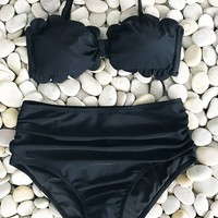 Cupshe Gorgeous Encounter High-waisted Bikini Set
