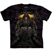 DEATH THRONE The Mountain Skeleton Skull Grim Reaper Scythe T-Shirt S-3XL NEW