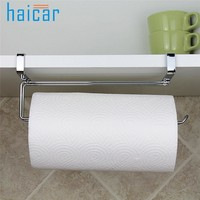 HAICAR Kitchen Paper Holder Hanger Tissue Roll Towel Rack Bathroom Toilet Sink Door Hanging Organizer Storage Hook Holder U70531