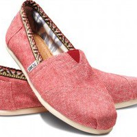 Red Chambray Trim Women's  Classics | TOMS.com