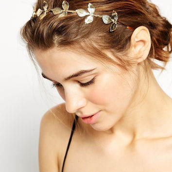 Korean Leaf Hair Accessories Headwear Accessory [6056801921]