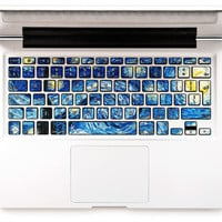 Van Gogh Dreams Decal Keyboard Sticker