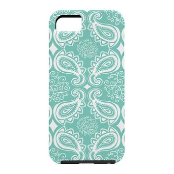 Heather Dutton Plush Paisley SeaSpray Cell Phone Case