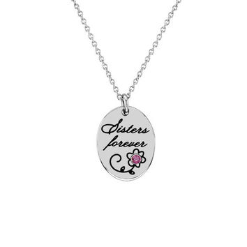 October Rose Zircon Sisters Forever Pendant in by NaomisCo2
