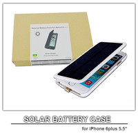 solar powered cell phone case for iphone 6 plus 5.5 external battery case 4200mah power bank for iphone6 plus